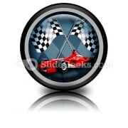 Red Formula Car PowerPoint Icon Cc