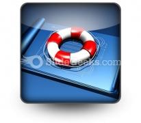 Rescue Plan PowerPoint Icon S