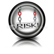 Risk Hanging PowerPoint Icon Cc
