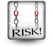 Risk Hanging PowerPoint Icon S