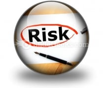 Risk PowerPoint Icon C