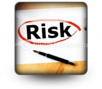 Risk PowerPoint Icon S
