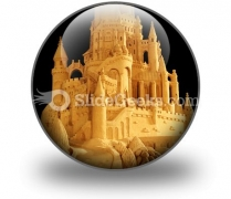 Sand Castle PowerPoint Icon C