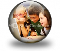 School Students Ppt Icon For Ppt Templates And Slides C