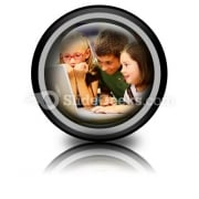 School Students Ppt Icon For Ppt Templates And Slides Cc
