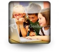 School Students Ppt Icon For Ppt Templates And Slides S