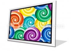 Seamless Vivid Swirl Pattern PowerPoint Icon F