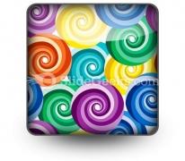 Seamless Vivid Swirl Pattern PowerPoint Icon S