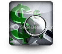 Searching For Dollar PowerPoint Icon S