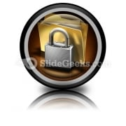 Secure Files PowerPoint Icon Cc