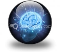 Vivid Brain PowerPoint Icon C