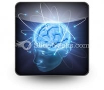 Vivid Brain PowerPoint Icon S