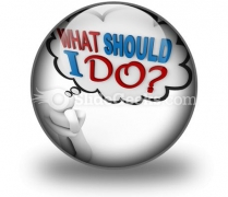 What Should I Do Ppt Icon For Ppt Templates And Slides C