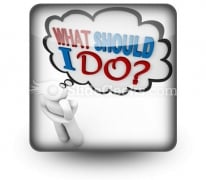 What Should I Do Ppt Icon For Ppt Templates And Slides S