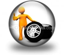Wheel Garage Ok Ppt Icon For Ppt Templates And Slides C