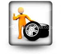 Wheel Garage Ok Ppt Icon For Ppt Templates And Slides S