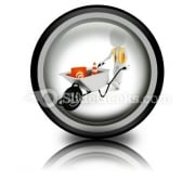 Worker Works Construction PowerPoint Icon Cc