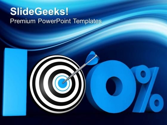 100 Percent Target Success In Achieving Goal PowerPoint Templates Ppt Backgrounds For Slides 0413