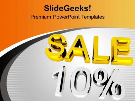 10 Percent Discount Sale Theme PowerPoint Templates Ppt Backgrounds For Slides 0413