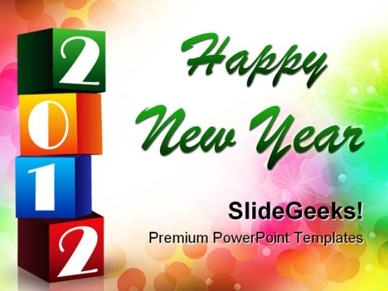 2012 Colorful Blocks Abstract PowerPoint Templates And PowerPoint Backgrounds 1211