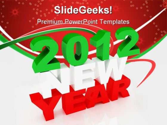 2012 New Year Background PowerPoint Templates And PowerPoint Backgrounds 1011