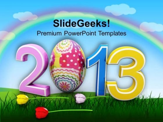 2013 Happy Easter Day Holidays PowerPoint Templates Ppt Backgrounds For Slides 0313