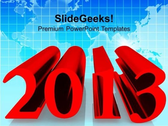 2013 New Year Business Concept PowerPoint Templates Ppt Backgrounds For Slides 1212