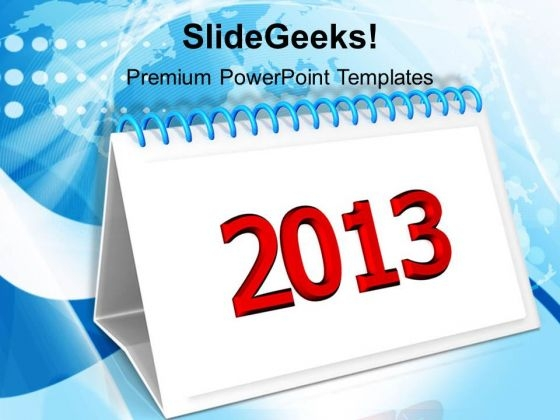 2013 New Year Calendar Business PowerPoint Templates Ppt Backgrounds For Slides 1212
