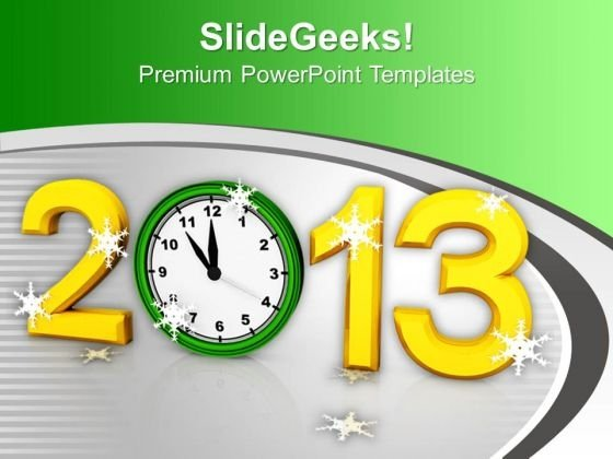 2013 New Year Celebration PowerPoint Templates Ppt Backgrounds For Slides 1112