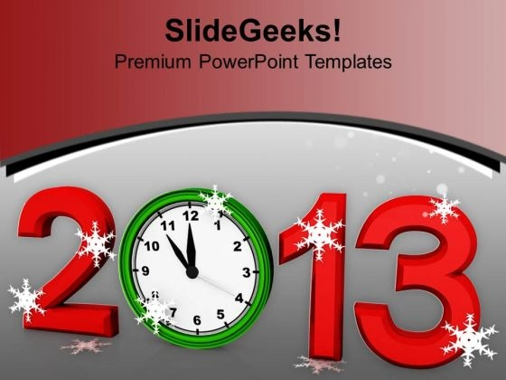2013 New Year Concept Festival PowerPoint Templates Ppt Backgrounds For Slides 1112
