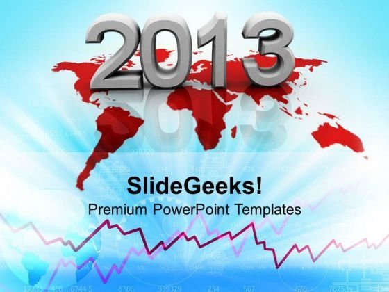 2013 New Year Earth PowerPoint Templates Ppt Background For Slides 1112