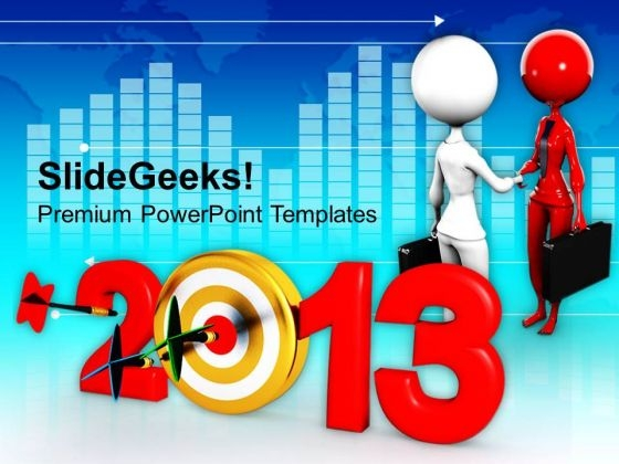 2013 New Year Handshake Business PowerPoint Templates Ppt Backgrounds For Slides 1112