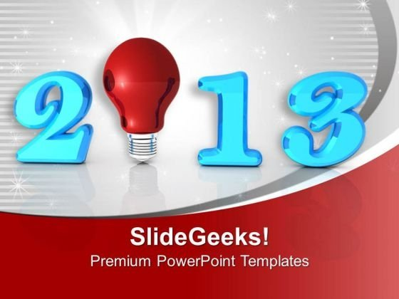 2013 New Year Innovation Business PowerPoint Templates Ppt Backgrounds For Slides 0113