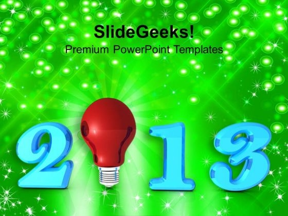 2013 New Year Innovation PowerPoint Templates Ppt Backgrounds For Slides 1212
