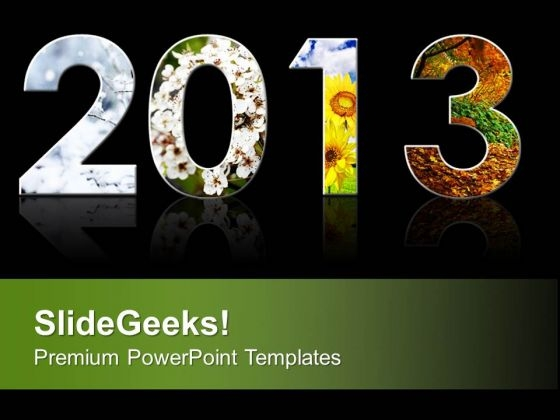 2013 New Year Nature Celebration PowerPoint Templates Ppt Backgrounds For Slides 0113