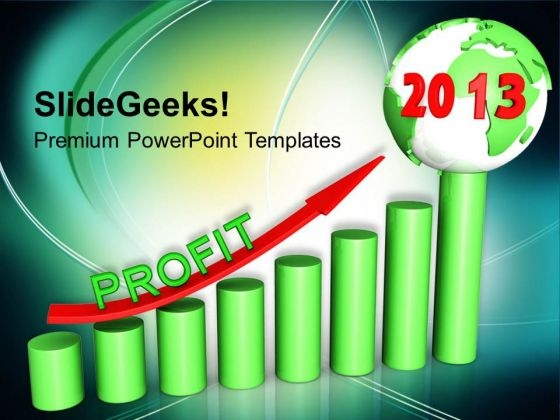2013 New Year With Profit Business PowerPoint Templates Ppt Backgrounds For Slides 1112