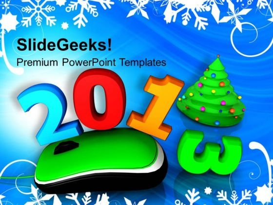 2013 With Computer Mouse Christmas PowerPoint Templates Ppt Backgrounds For Slides 1212