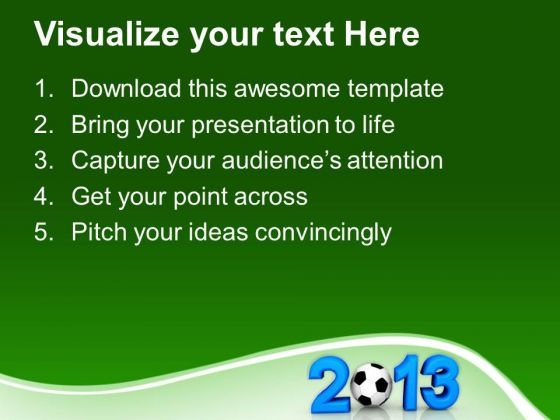 2013 With Football Game Powerpoint Templates Ppt Backgrounds