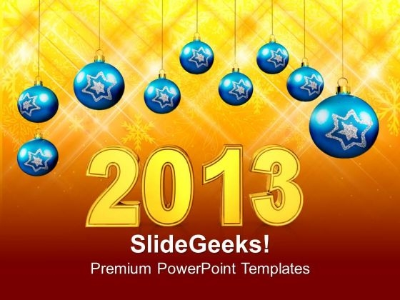 2013 Year With Filigree Decoration Event PowerPoint Templates Ppt Backgrounds For Slides 1212