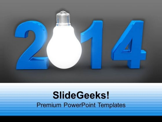 2014 Happy New Year Innovation PowerPoint Template 1113