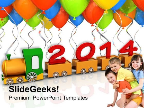 2014 New Year Education PowerPoint Template 1113