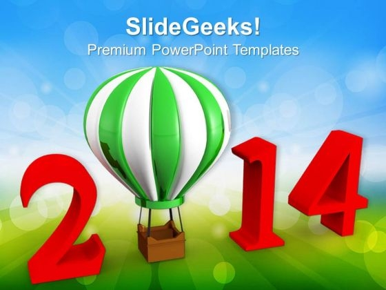 2014 New Year Growth PowerPoint Template 1113