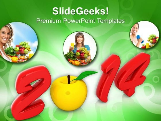 2014 New Year Health PowerPoint Template 1113