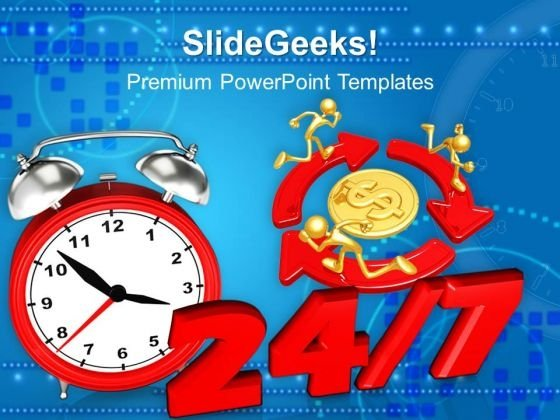 24 7 Time Planning PowerPoint Templates And PowerPoint Themes 0912