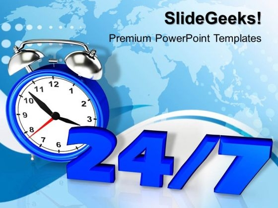 24 7 Time Planning PowerPoint Templates And PowerPoint Themes 1012
