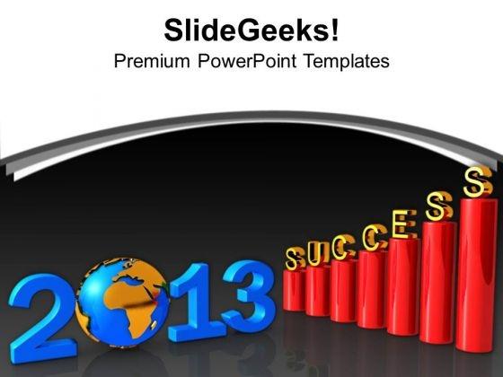 3d Bar Graph Leading Success 2013 PowerPoint Templates Ppt Backgrounds For Slides 1212