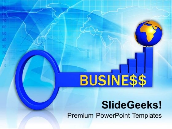 3d Business Global Success Key PowerPoint Templates Ppt Backgrounds For Slides 0213