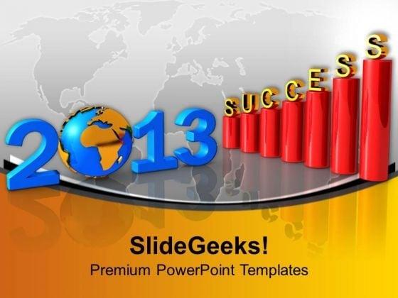 3d Business Success Bar Graph 2013 PowerPoint Templates Ppt Backgrounds For Slides 1212