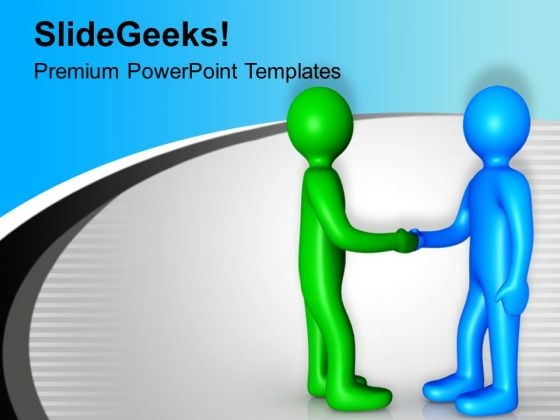 3d Business Team Leaders Handshake PowerPoint Templates Ppt Backgrounds For Slides 0213