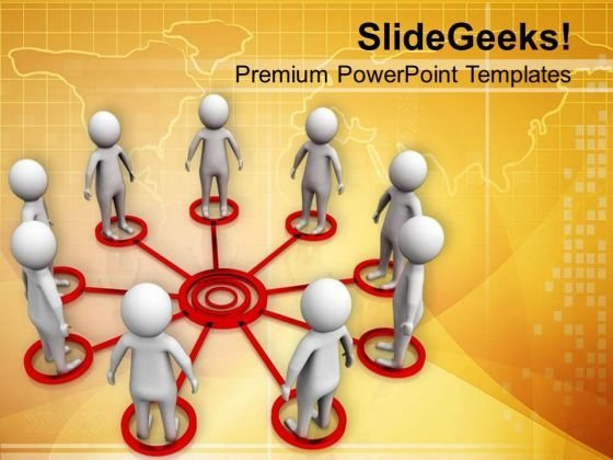 3d Business Team Network PowerPoint Templates Ppt Backgrounds For Slides 0813